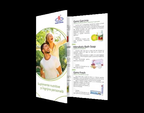 Flyere Gano Excel Suplimente Nutritive si Ingrijire Personala